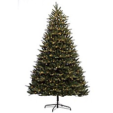 image of puleo international 9 foot douglas fir premier pre lit artificial christmas tree - Christmas Trees Artificial