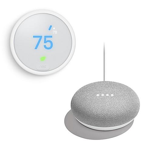 Nest 174 Learning Thermostat E With Bonus Google Home Mini