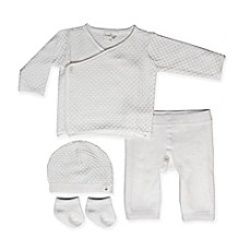image of Cuddl Duds® 4-Piece Kimono, Pant, Hat and Socks Set in White