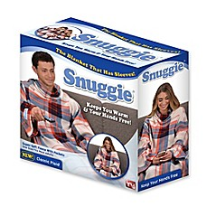 image of Snuggie® Classic Plaid Blanket in Orange