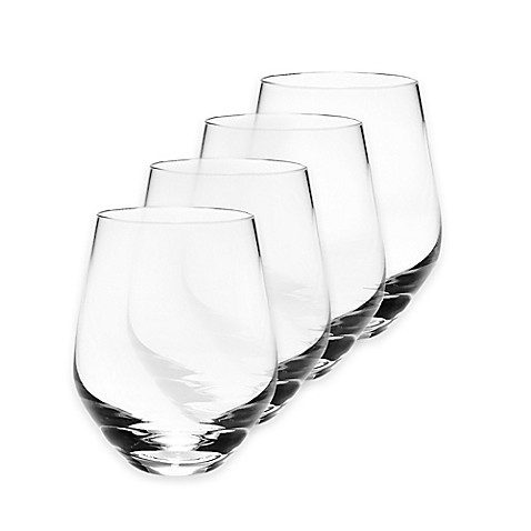 Lenox tuscany classics 12 oz stemless white wine glasses set of 4 bed bath beyond - Lenox stemless red wine glasses ...