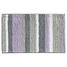 image of InterDesign® Microfiber Stripz Bath Rug Collection