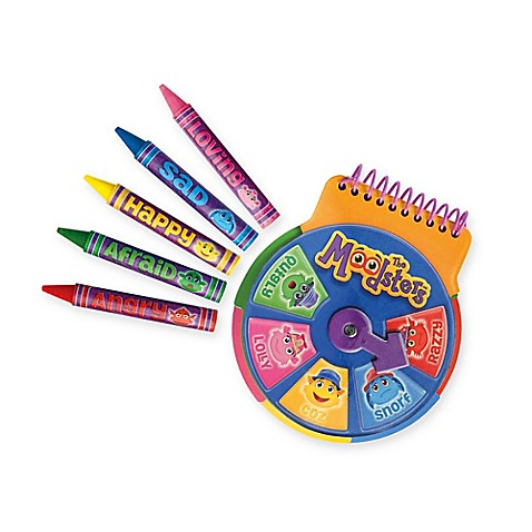 The Moodsters™ Notebook and Crayons Set
