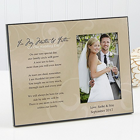 To My Parents Wedding Photo Frame