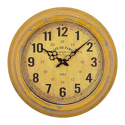 Yosemite Home Décor Cafe De Paris 16-Inch Wall Clock in Distressed ...
