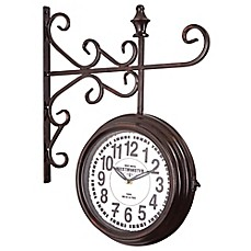 image of Yosemite Home Décor Side View Cobblestone Wall Clock