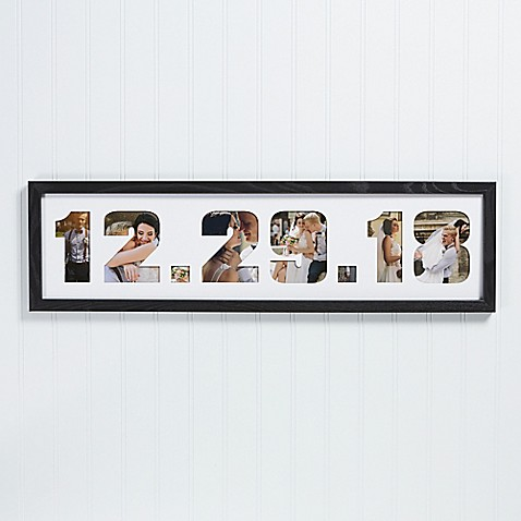 Wedding Date Photo Collage Picture Frame - Bed Bath & Beyond