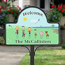 image of Spring Character Collection Magnetic Garden Sign