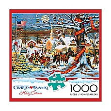 image of Buffalo Games™ 1000-Piece Charles Wysocki Small Town Christmas Puzzle
