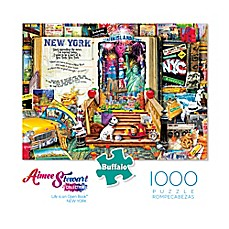 image of Buffalo Games™ 1000-Piece Aimee Stewart Life is an Open Book Big Apple Puzzle