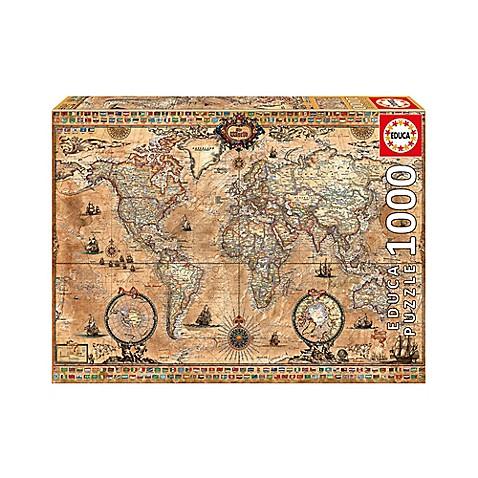 Educa antique world map 1000 piece jigsaw puzzle bed bath beyond educa antique world map 1000 piece jigsaw puzzle gumiabroncs Images