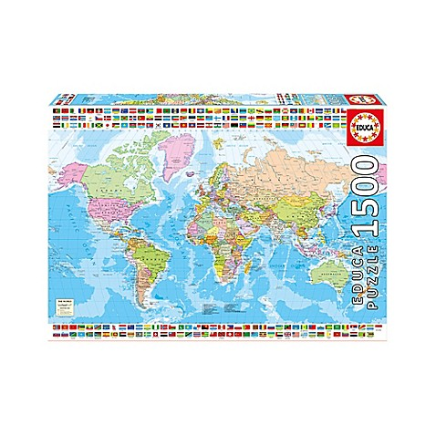 Educa political world map 1500 piece jigsaw puzzle buybuy baby educa political world map 1500 piece jigsaw puzzle gumiabroncs Gallery