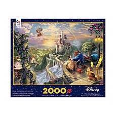 image of Ceaco Thomas Kinkade Disney Dreams Beauty and the Beast 2000-Piece Puzzle