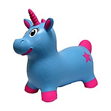 image of MegaFun USA JumPets Bouncer Luna the Unicorn in Blue