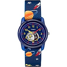 image of Timex® Time Machines Children's 28mm Peanuts Outer Space Watch in Blue