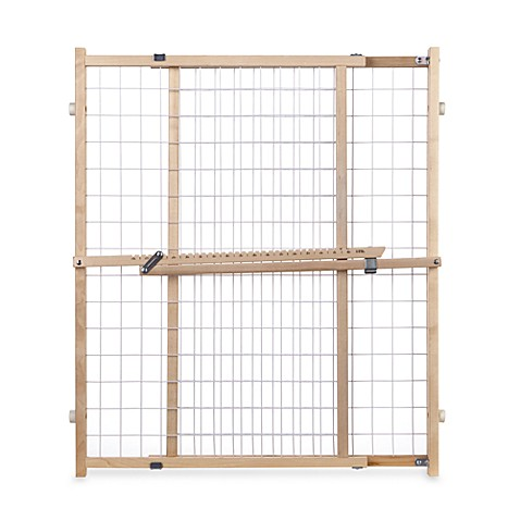 North States Extra Wide Wire Mesh Safety Gate Bed Bath