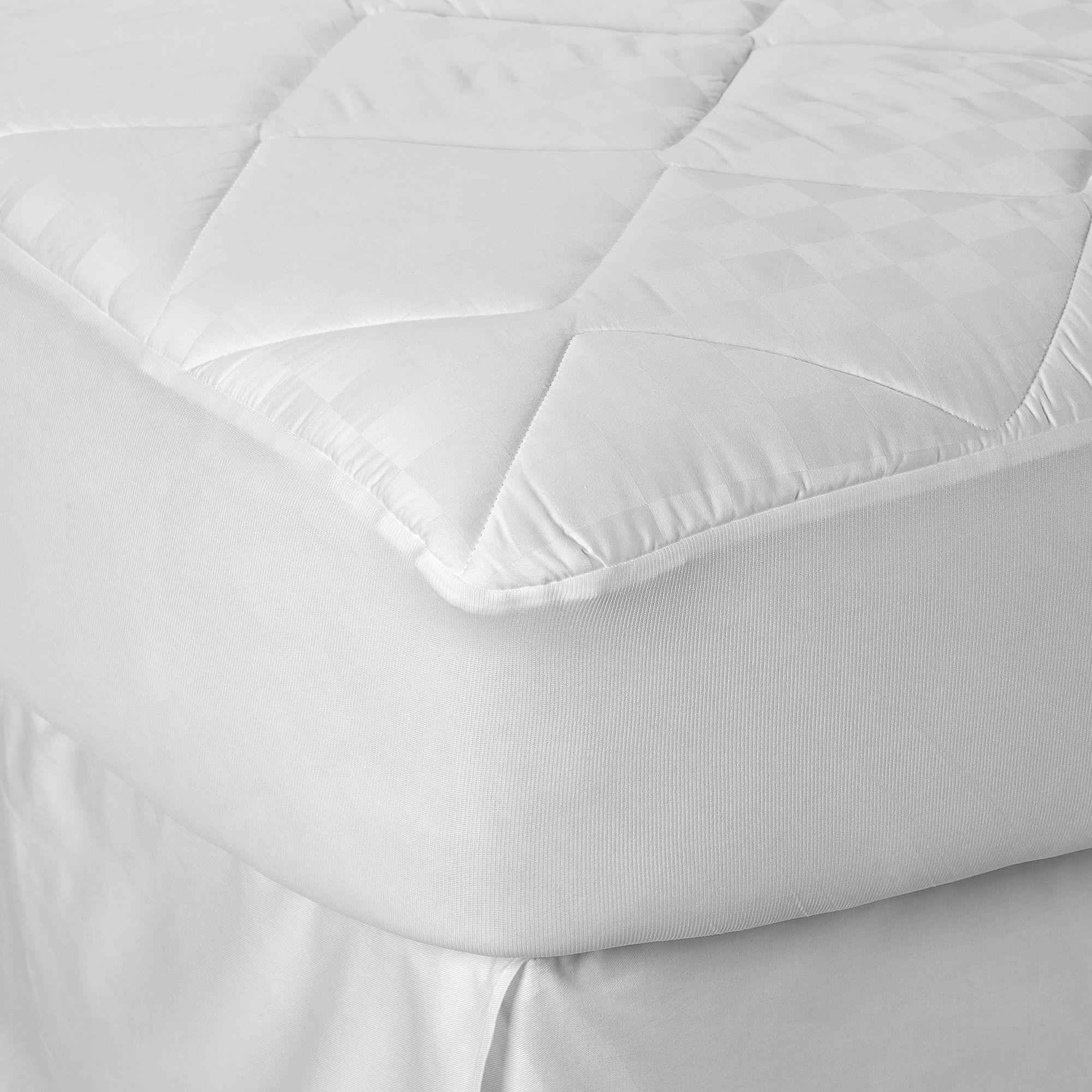 therapedic 300 thread count ultrasoft cotton mattress pad in