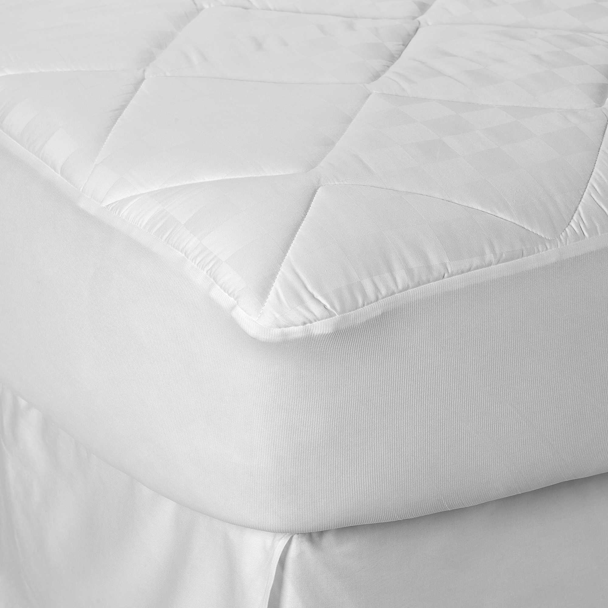 image of Therapedic® 300-Thread-Count UltraSoft™ Cotton Mattress Pad in  White