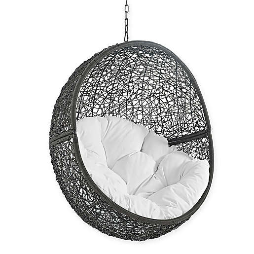 Modway Hide Patio Swing Chair Without, Outdoor Swing Chair With Stand Canada