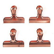image of Brooklyn Steel Co. 4-Piece Bag Clip Set in Copper