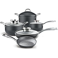 image of PENSOFAL® Nonstick 9-Piece Bio-Stone Coated Cookware Set in Stone Grey
