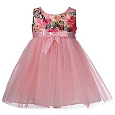 image of Bonnie Baby Butterfly Ballerina Dress in Pink
