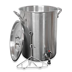 image of King Kooker® 30-Quart Aluminum Turkey Fryer with Spigot for Draining