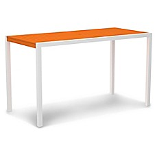 image of POLYWOOD® Mod Rectangle All-Weather Bar Table