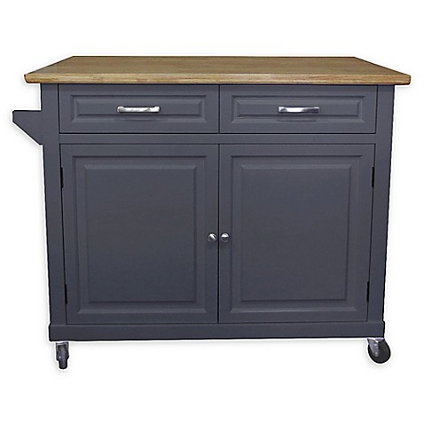 No Tools Kitchen Island in Grey