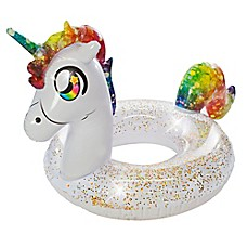 image of Pool Candy Glitterfied Rainbow Unicorn Pool Float