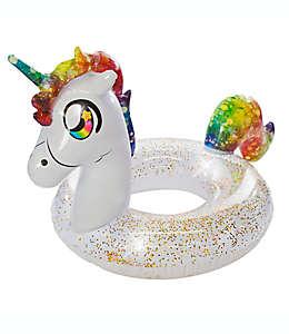 Inflable para alberca de plástico Pool Candy en forma de unicornio brillante con arcoíris