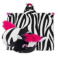 image of Comfy Critters™ Zebra Wearable Stuffed Animal in Black/White