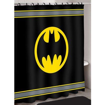 batman logo shower curtain - Batman Bathroom