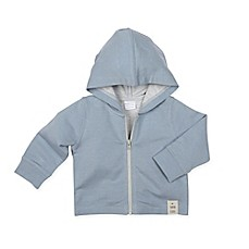 image of Robeez® Hooded Knit Jacket in Blue