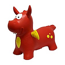 image of MegaFun USA JumPets Bouncer Dexter the Dragon in Red