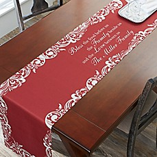 image of 96-Inch Our Christmas Blessings Table Runner in Red