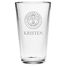 image of MLS Philadelphia Union Deep Etch Pint Glass