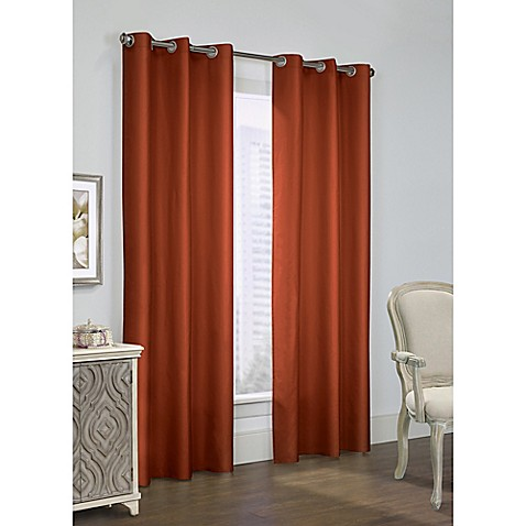 Buy Commonwealth Hf Thermalogic Prescott 63 Inch Grommet Window Curtain Panel Pair In Spice From