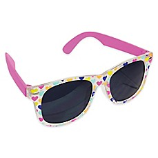 image of Tiny Treasures Clear Multi Heart Toddler Sunglasses in Pink