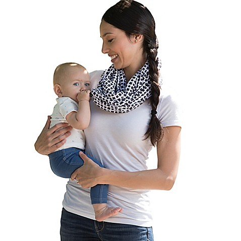 Boppy™ Teething Scarf in Black/White