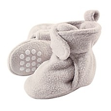 image of Luvable Friends® Scooties Fleece Booties in Light Grey