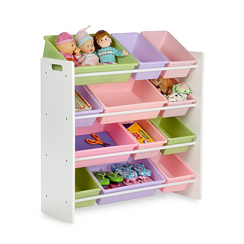 Honey-Can-Do® Kids Toy Organizer and Storage Bins in Pastel - Bed ...
