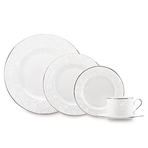 Marchesa by Lenoxu0026reg; Porcelain Laceu0026trade; Dinnerware Collection  sc 1 st  Bed Bath u0026 Beyond & Marchesa by Lenox® Porcelain Lace™ Dinnerware Collection - Bed Bath ...