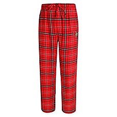 image of University of Louisville Men's Flannel Plaid Pajama Pant with Left Leg Team Logo