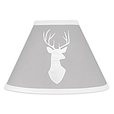 image of Sweet Jojo Designs Woodsy Lamp Shade in Grey/White