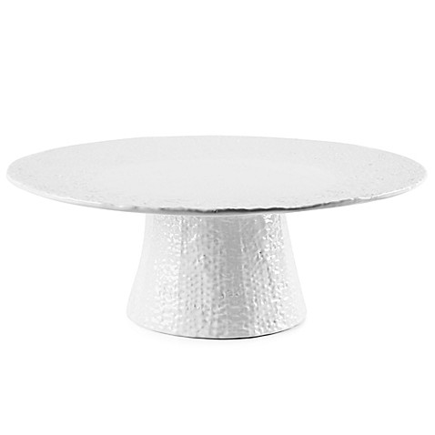 Home Essentials Amp Beyond 15 Inch Burlap Footed Cake Stand