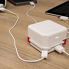 image of Allocacoc PowerUSB AC Powered Portable 4-Port USB Bank