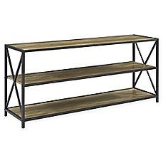 image of Forest Gate 60-Inch X-Frame Metal and Wood Console Table