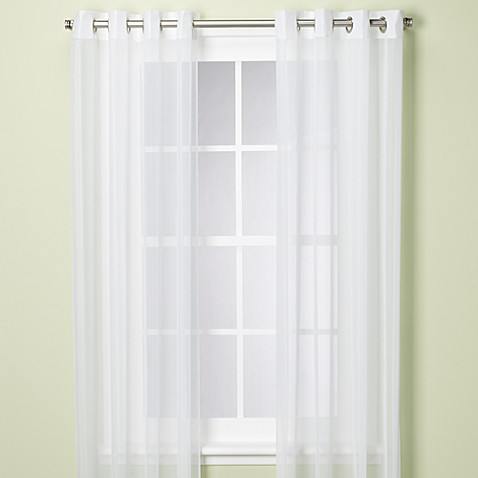Commonwealth Home Fashions Escape Grommet 84-Inch Window Curtain Panel in White