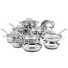 image of Cuisinart® Stainless Steel 17-Piece Cookware Set